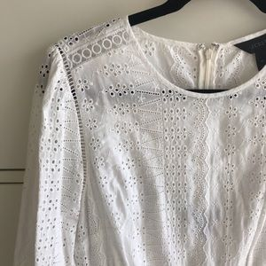 JCrew white eyelet dress! WORN TWICE!